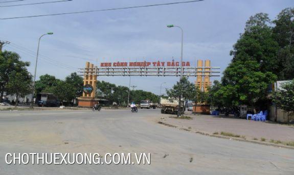 Cho thuê nhà xưởng 1750m2 trong KCN Tây Bắc Ga, tp Thanh Hóa
