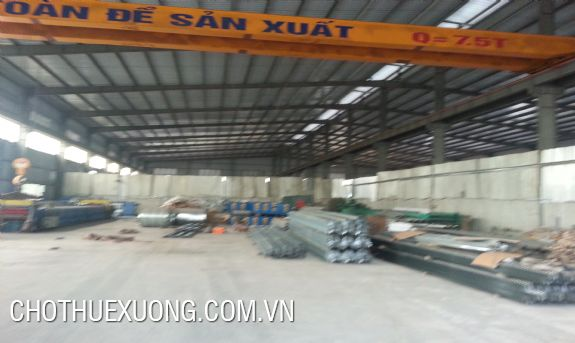 1800sqm factory for lease in An Duong, Hai Phong