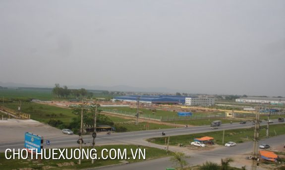 Land for rent in Que Vo 1 industrial zone, Bac Ninh