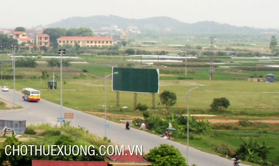 Land for sale in Quang Minh industrial zone, Me Linh, Ha Noi
