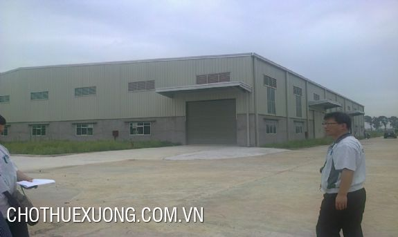 Land and factory for sale in Quoc Oai industrial cluster