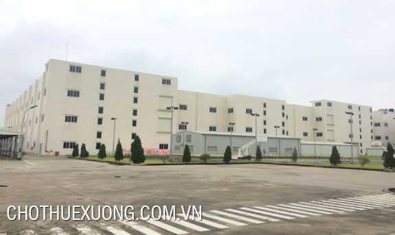Factory for lease in Thach That industrial zone, Quoc Oai, Hanoi 10.000sqm/storey