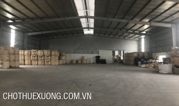 1600m2 factory for lease in Khai Son industrial zone, Thuan Thanh 3, Bac Ninh