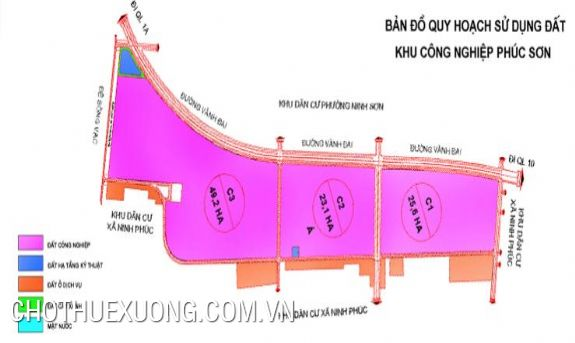 Land for rent in Phuc Son industrial zone, Ninh Binh city