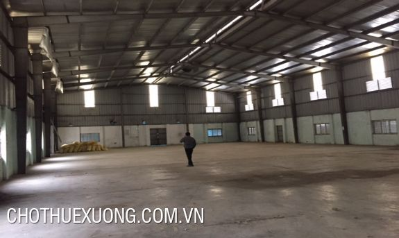 For rent 4500m2 factory in Tay Tuu industrial cluster, Tu Liem, Hanoi