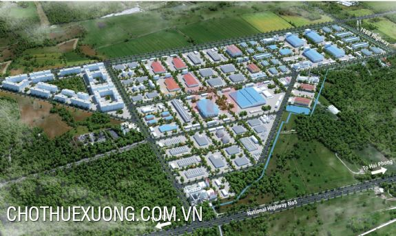 Industrial land for sale in Minh Quang industrial park, Hung Yen 150ha