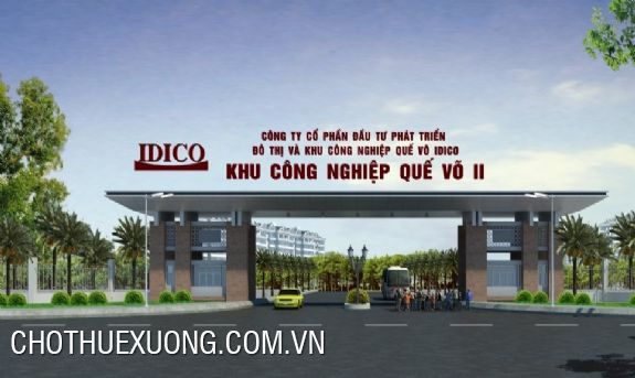 Land for transfer in Que Vo II industrial park, Bac Ninh 1ha-5ha
